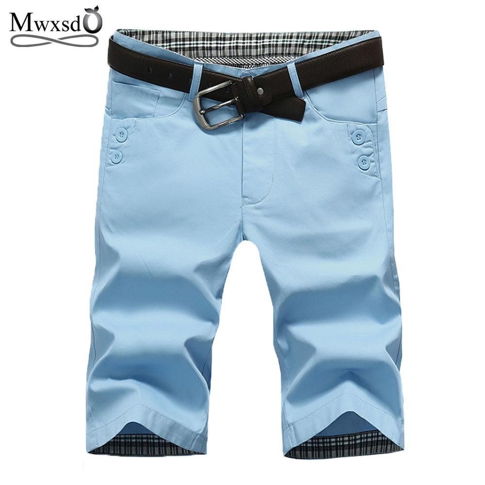High Quality Mwxsd Brand Mens Cotton Shorts Summer Men Shorts Homme Stylish Casual Beach Shorts Men Short Pants 28~38