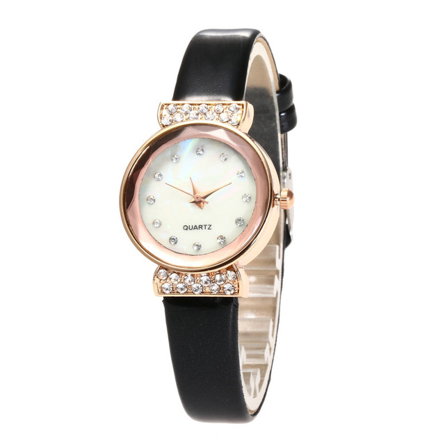 Fashion Watch Women Sports Casual PU Leather Strap Analog Quartz Wrist Round Bra