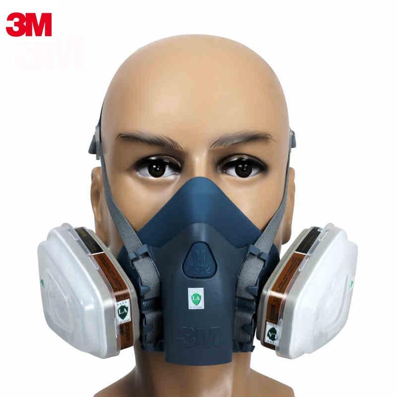 3 м 7502 противогазовая маска специальная антитоксичная формальдегид анти-пестицид активированная угольная маска 3 М фильтр респираторные ма...