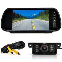 Wireless Rearview Kit 7 Inch LCD Mirror Monitor + Infrared Reversing Camera Car Refitting Accessories For Car Bus Van
