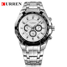 HOT Sale Formal CURREN Branded Watches,Stainless Steel Quartz Analog Mens Watches,Free Shipping Dropshipping