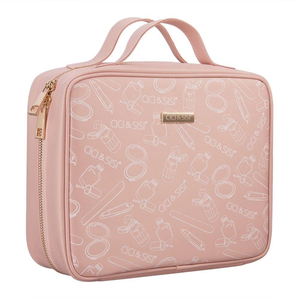 40 Slots Pink Nail Art Stamping Plate Holder Large Size Water-proof Nylon Stamping Plate Storage Bag Nail Art Display Orgnizer