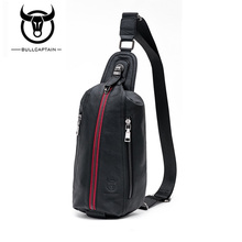 BULLCAPTAIN  Crossbody Bags for Men Messenger Chest Bag Pack Casual Bag Waterproof Nylon Single Shoulder Strap Pack Black+red цена и фото
