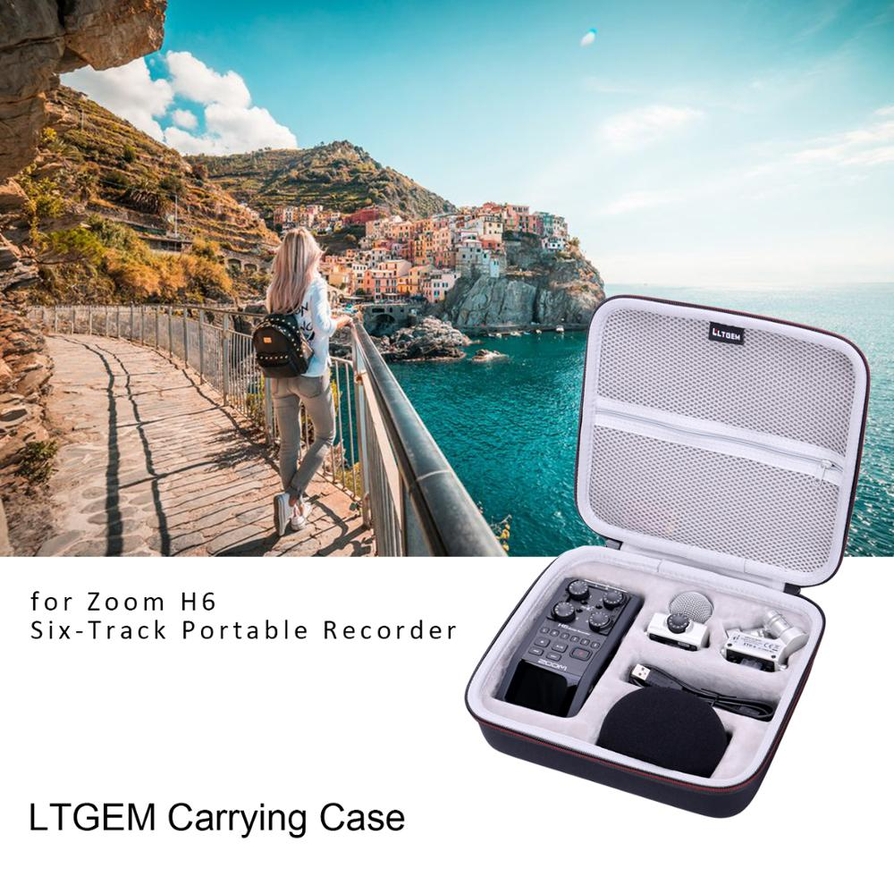 LTGEM EVA Black Hard Case for Zoom H6 Six-Track Portable Recorder