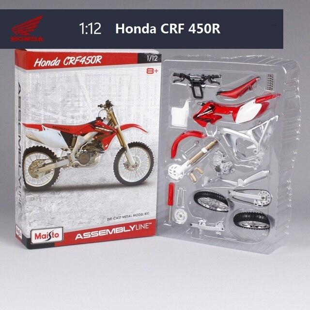 Honda crf 450r motorcycle model building kits 1/12 brinquedo de presente modelo de montagem da motocicleta motocicleta motocicleta crianças brinquedos crianças brinquedos