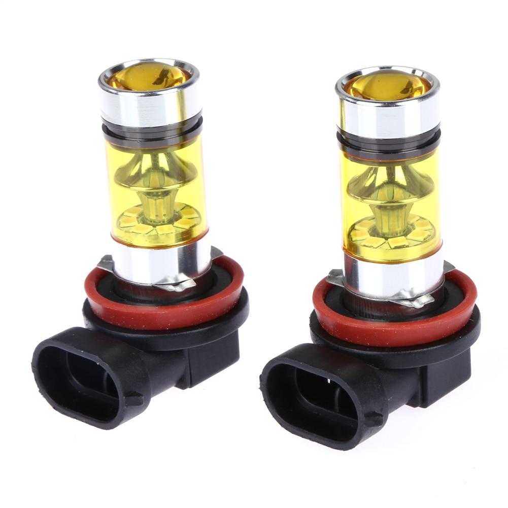 2ks 100 W H8 H11 auto LED žárovka zlatá žlutá automobilová - Autosvětla