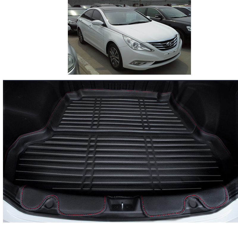 Lsrtw2017 Fiber Leather Car Trunk Mat For Hyundai Sonata