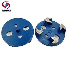 цена на RIJILEI 6 PCS/lot 3Magnetic Arrow Segments Diamond Grinding Disc for Concrete Floor 80mm Marble Grinding Shoe Plate Disc JX01