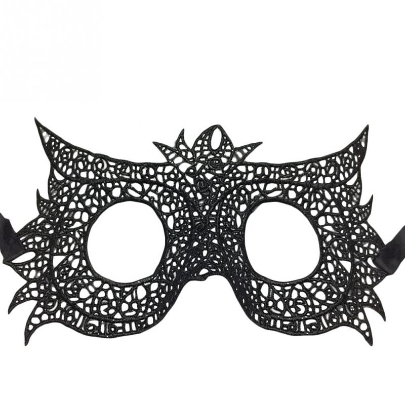 1pc new lady lace black owl masquerade eye mask halloween fancy prom costume party ball face - Black Eye Mask Halloween