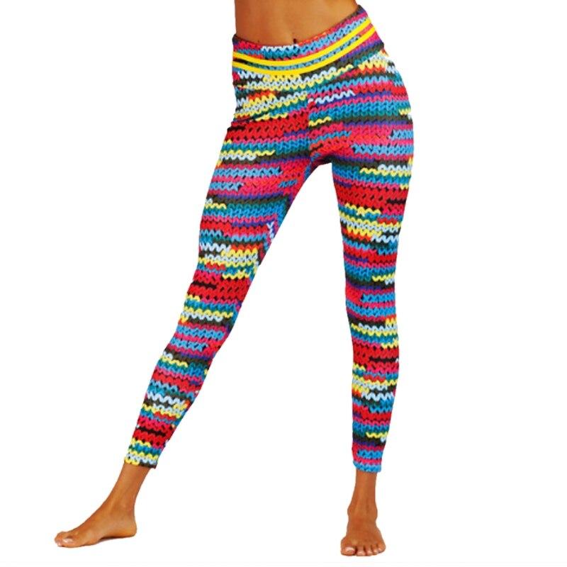79209de4844b81 2019 Women Yoga Pants High Waist Sport Workout Running Power Flex ...