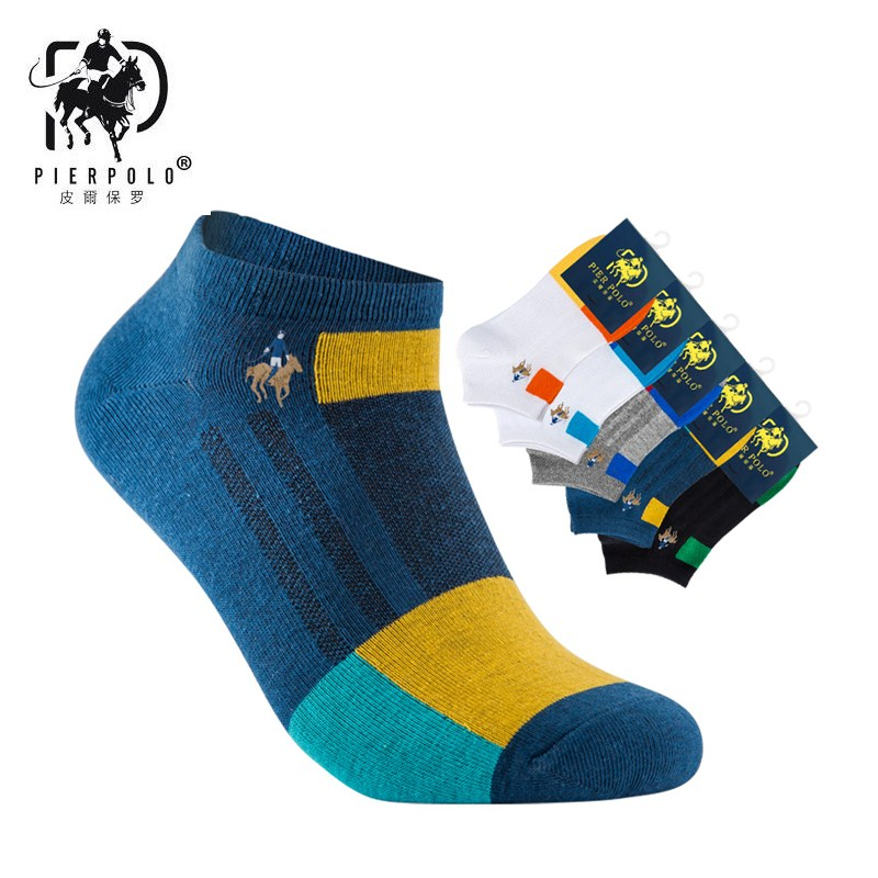 2018 new PIERPOLO men's casual cotton socks striped fight men's socks breathable deodorant cotton socks manufacturers wholesale
