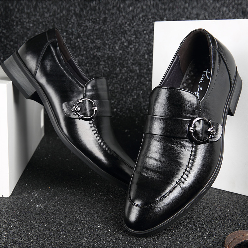 Los Vestir Puntiagudo Formales Cuero Pie Del Mocasines Calidad Zapatos Negro Mycoron De Alta Dedo Boda on Hombre Hombres Slip 4qAz8n