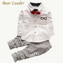 Bear Leader Baby Clothing Sets Kids Clothes Autumn Baby Sets Kids Long Sleeve Sports Suits Bow Tie T-shirts + Pants Boys Clothes