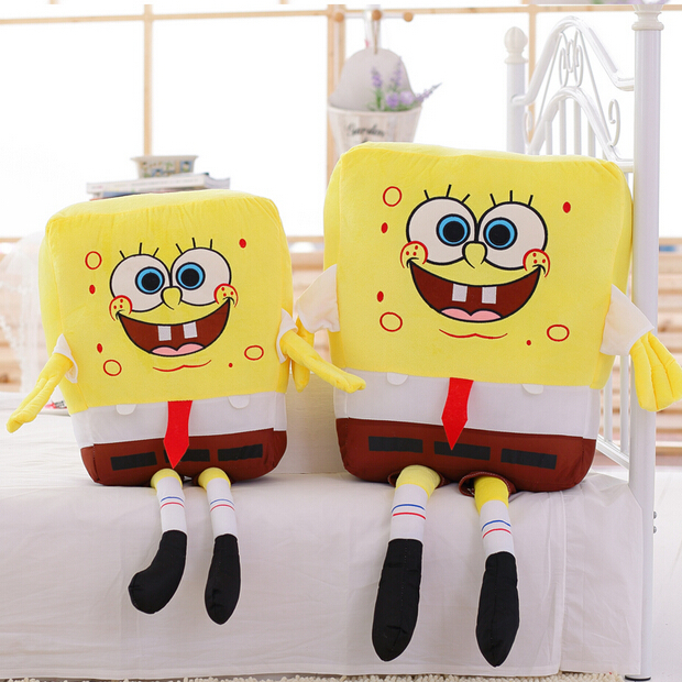 1pc 50cm Sponge Bob Baby Spongebob Plush Toy Soft Anime Cosplay Doll For Kids Toys Cartoon Figure Cushion new