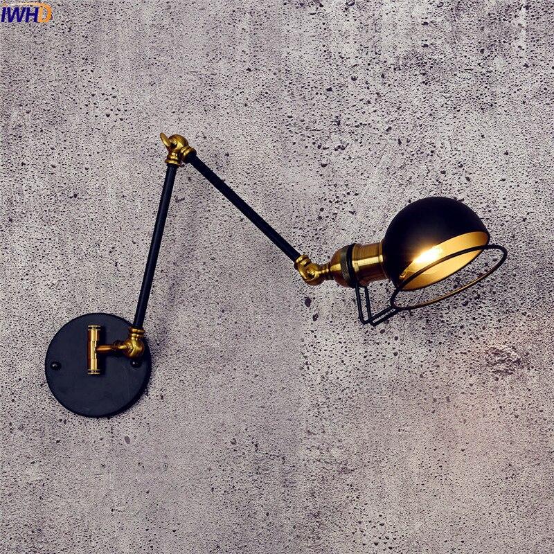 Dutiful Iwhd Loft Retro Led Wall Lamp Home Indoor Lighting Swing Long Arm Industrial Wall Light Edison Sconce Arandela Luminaire Led Indoor Wall Lamps