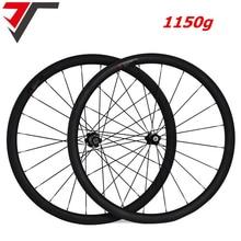 1150g إطارات دراجة تسلق الجبال خفيفة الوزن عجلات الكربون Powerway R13 الكربون دراجة العجلات 38 50 60 88mm عمق الفاصلة عجلات أنبوبية من الكربون عجلة الدراجة