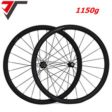 1150g Super light carbon wheels Powerway R13 carbon bicycle wheelset 38 50 60 88mm depth clincher tubular carbon road bike wheel(China)