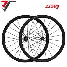 Rodas de carbono super leve 1150g, conjunto de rodas de bicicleta de carbono com 38 50 60 88mm de profundidade clincher em carbono roda de bicicleta de estrada
