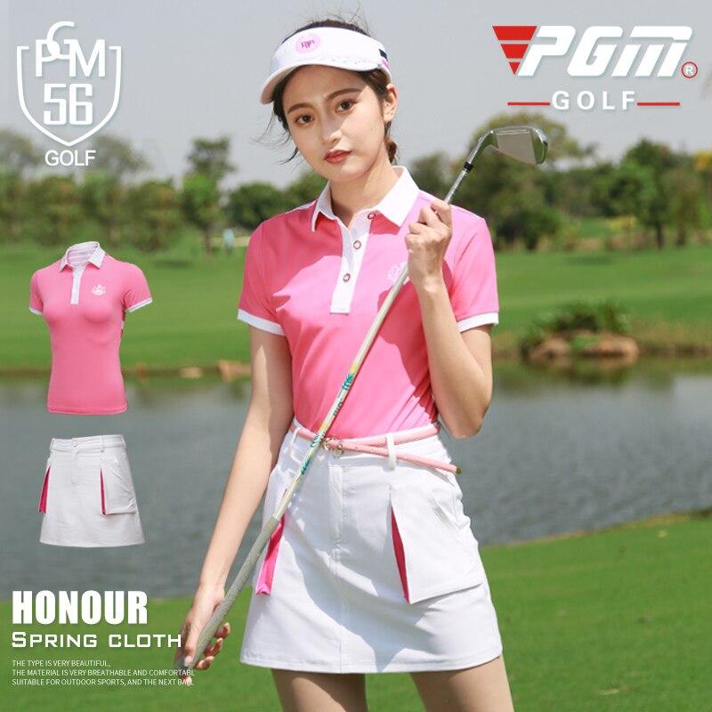 2018 nouveauté Golf chemises femmes d'été costume en plein air respirant séchage rapide Golf à manches courtes T-shirt jupe taille XS-XL