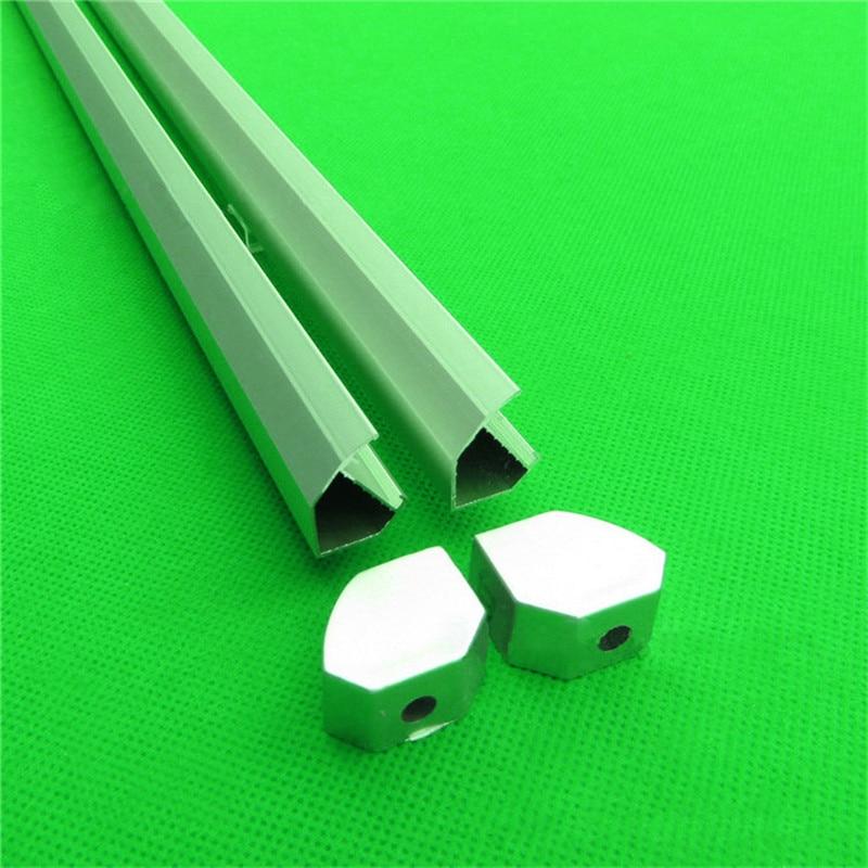 10pcs/lot V Shape Led Cabinet Bar Light Profile With Corner Jointer For 8mm  3528