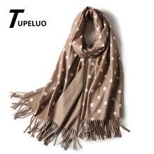 Зимний шарф с одной волной и одной сплошной цвет для женщин новые шали с кисточками и обертывания толстые длинные кашемировые шарфы