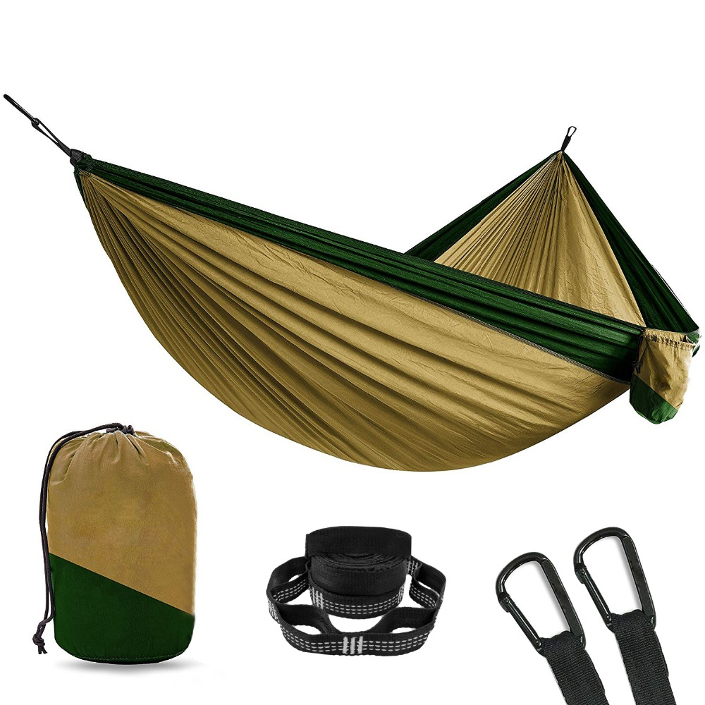 2 Person Double Camping Hammock With 2pcs Tree Straps XL 10 Foot Nylon Portable Heavy Duty Holds 700lb for Sitting Hanging Sale srjtek 8 for huawei mediapad t1 8 0 pro 4g t1 821l t1 821w t1 823l t1 821 n080icp g01 lcd display touch screen panel assembly