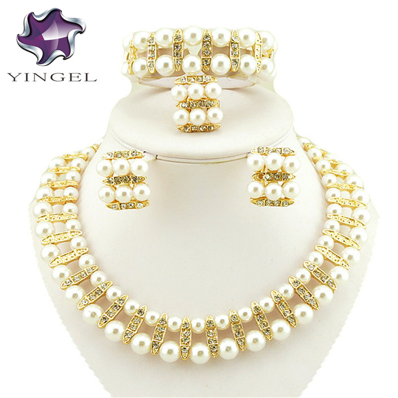 gold jewelry sets women bead necklace african bridal jewelry sets jewellery dubai jewelry sets african beads