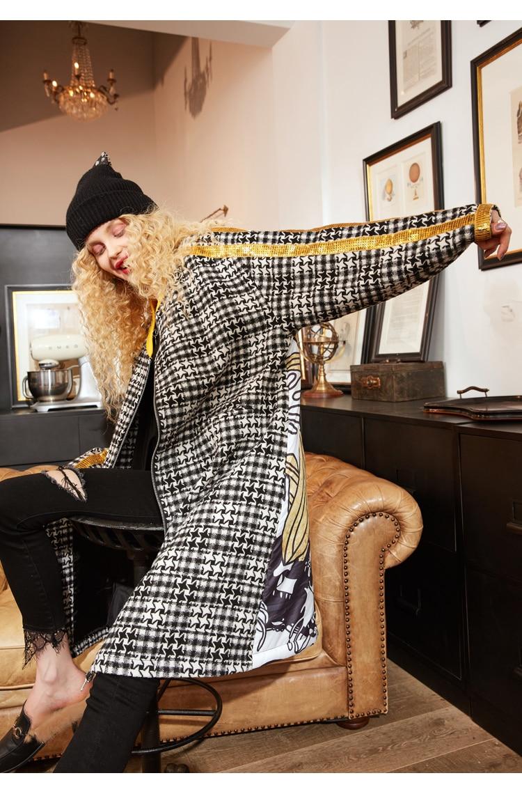Winter Vintage Blend Long Windbreaker Ladies Outerwear
