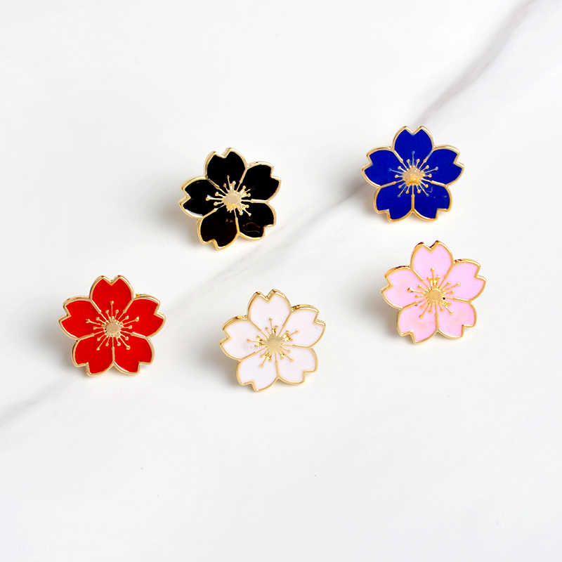 Putih Merah Muda Merah Biru Hitam Bunga Pins Lencana Tas Kerah Dekoratif Aksesoris Wanita Fashion Perhiasan Hadiah untuk Wanita