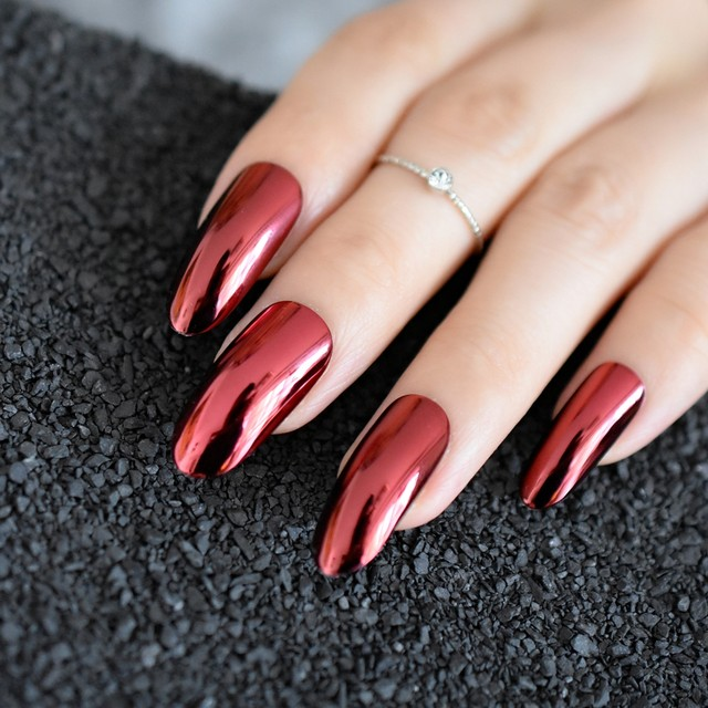 Magnificent Acrylic Nail Round Collection - Nail Art Design Ideas ...