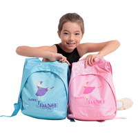 Blue Dance bag Pink Cute Backpack with Printing hot pink Ballet Dance girl Design for Girls Ballet Bag for Children childs