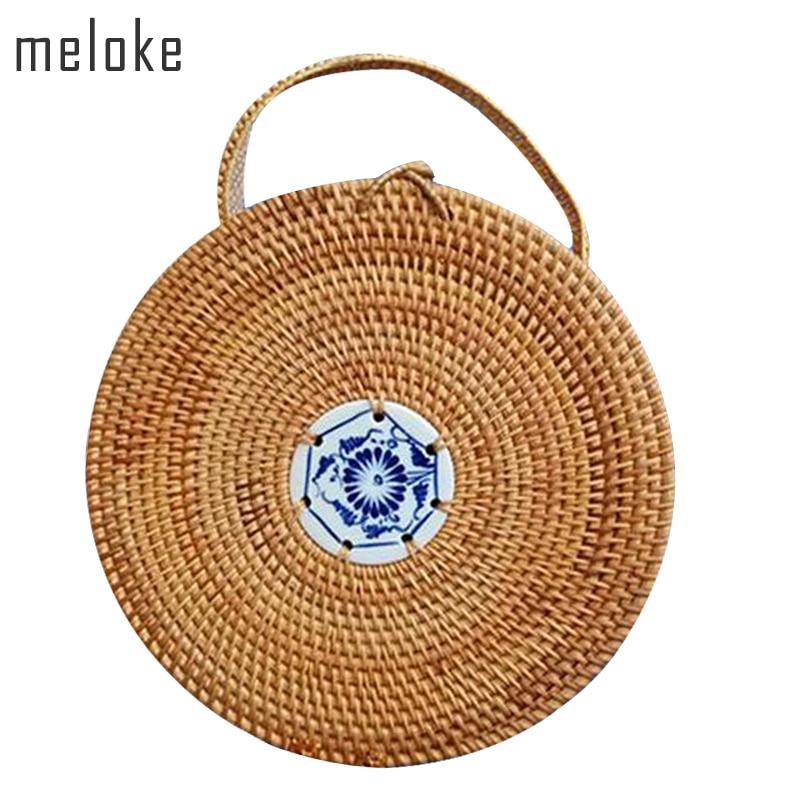 Meloke 2019 me cilësi të lartë Mini Rretho Qese çanta Handbade - Çanta dore