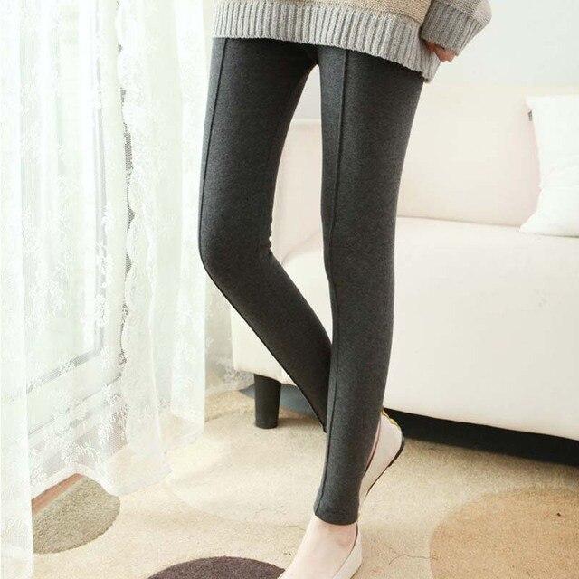 Winter Maternity Legging Black Dark Grey Pregnancy Pants for Pregnant Women Warm Leggings for Pregnant M/L/XL 2017 Newest