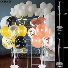 1Set Kid Adult Birthday Party Wedding Decoration With balloon holder Clear Plastic Column Stand Balloon Christmas Stick