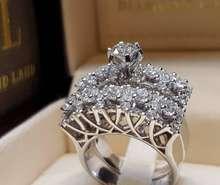 Новинка креативное обручальное кольцо Стразы с отверстиями свадебное