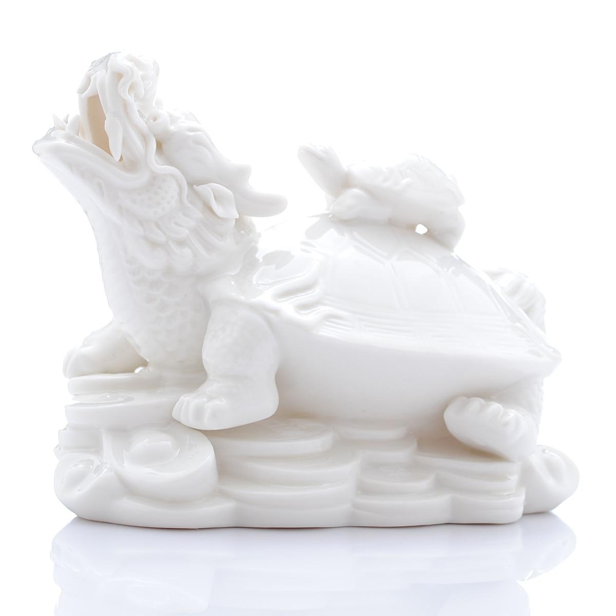Jingdezhen ceramics jade dragon turtle modern fashion Home Furnishing crafts table decoration decoration entrance