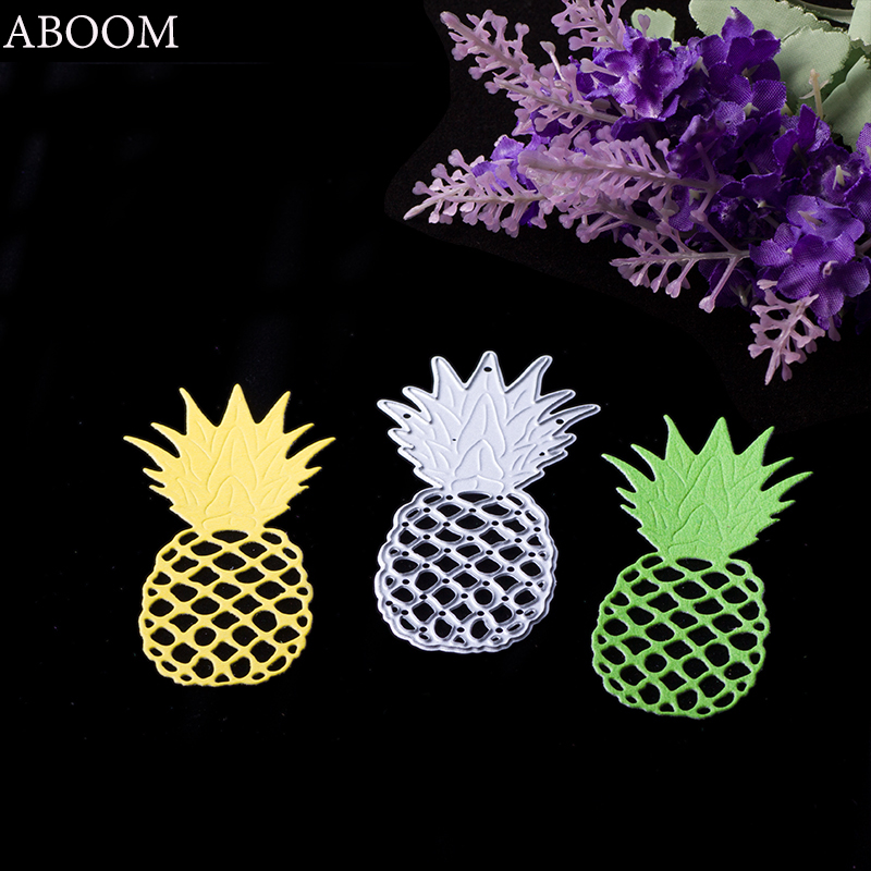 ABOOM New 1PC Fresh Fruit Pineapple Embossing Cutting Dies Stencil DIY Scrapbooking Album Cards Paper Decorative Metal Stencil