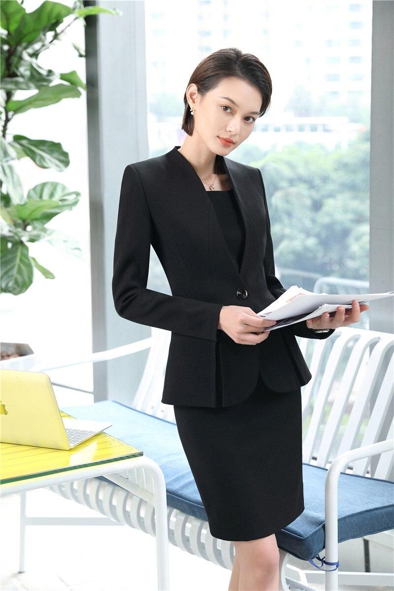 black Travail 2018 Femmes Uniforme Blazers Vestes Styles Apricot Pour Tissu Qualité Portent Robe Avec Et Mode De Designs Costumes Des D'affaires Haute nwqpC4x1