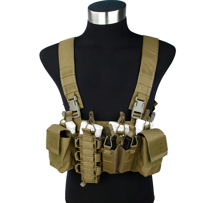 Tactical Strategic D-Mittsu Chest Rig Airsoft Military Combat Gear Khaki+Free shipping(STG050940) fire maple sw28888 outdoor tactical motorcycling wild game abs helmet khaki