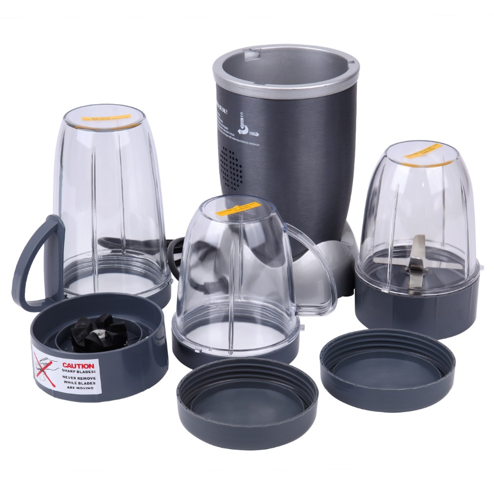 (Ship from EU) 600W Whole Fruit Vegetable Power Juicer Blender Grinder Stainless Steel with Jug glantop 2l smoothie blender fruit juice mixer juicer high performance pro commercial glthsg2029