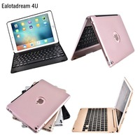 Slim ABS Wireless Bluetooth Case For IPad 6 IPad Air 2 Case Keyboard Kickstand Flip PC