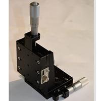 XZ Axis Manual Slide Vertical Lift Precision Displacement Table Straight Line Cross Rails 80*80mm CZSJ XZ80 C