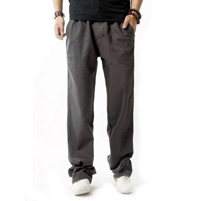 5XL Anti-Microbial Healthy Linen Pants Men  4