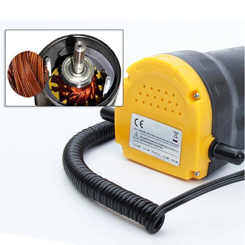 Extracteur D'huile De voiture Pompe DC 12 V/24 V pompe de transfert de carburant De Voiture Moto Diesel Fluide De Récupération D'huile Liquide Échange Transfert pompe à huile - 4