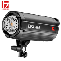 JINBEI DPX 400 400W Professional Studio Flash GN66 Fast Recycling Time Built in Wireless LED Modeling Lamp Photography Lighting