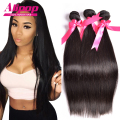 8A Unprocessed Peruvian Virgin Hair Straight 3 Bundles Peruvian Straight Virgin Hair Best Peruvian Hair Human Hair Weave Bundles