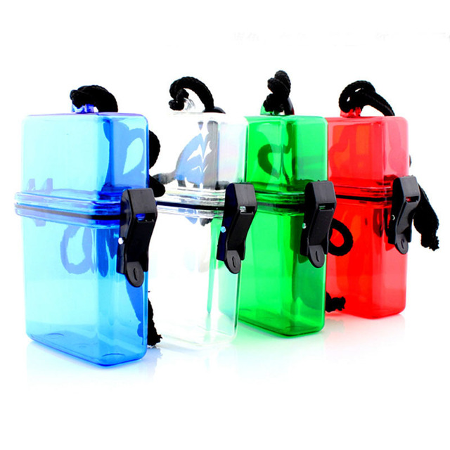 1 Piece Random Color ABS Outdoor Waterproof Plastic Container Key Money Storage Box Case Holder outdoot Tools
