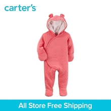 Carter s 1 Piece baby children kids clothing Girl Fall Winter Sherpa Lined Hooded Bunting 127G639