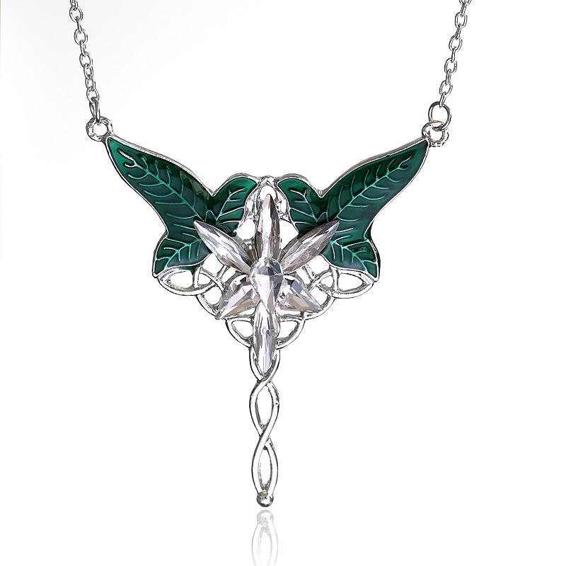Drop Oil Antique Silver Plated FAIRY ELVEN Mens Womens Celtic Life Tree Pendant Necklace