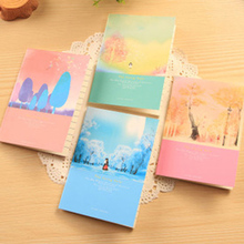 4pcs/lot 12*8.5cm Creative Stationery Little Cute Cartoon Fresh Portable Notepad Diary Small Notebook